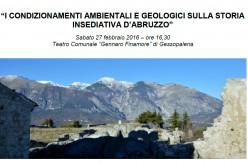 """Convegno """"I condizionamenti ambientali e geologici sulla storia insediativa d'Abruzzo"""""""