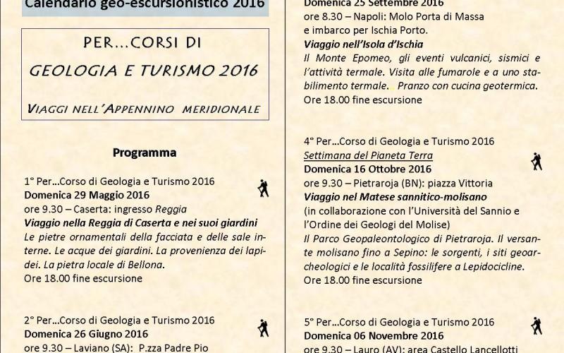 Calendario geo-escursionistico 2016