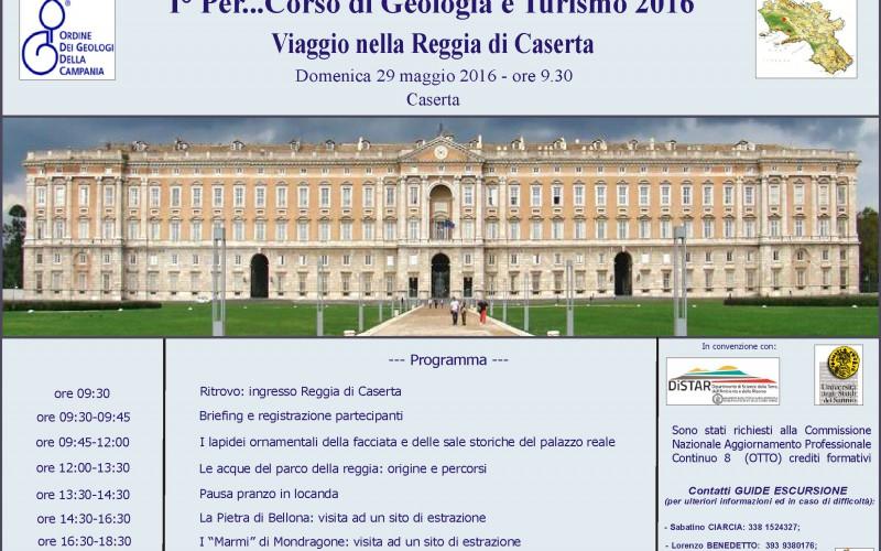 29/05/2016 1° Per..corso di Geologia e Turismo 2016 – Viaggio nella Reggia di Caserta