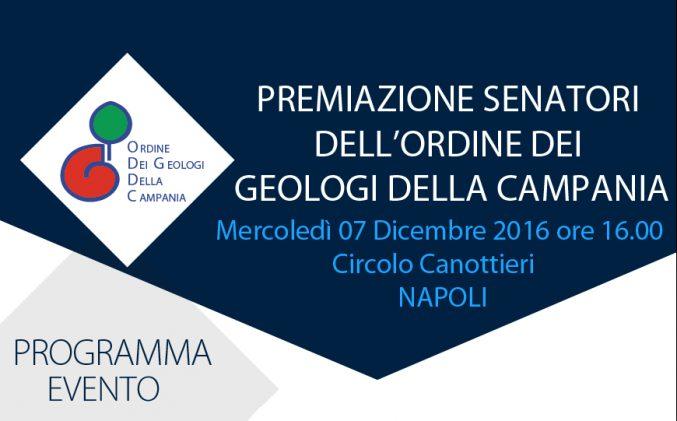 Premiazione Senatori dell'Ordine dei Geologi della Campania
