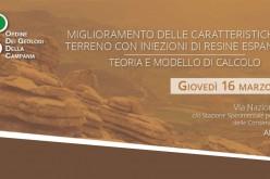 """16 Marzo 2017 – Short Course """"Miglioramento delle caratteristiche del terreno con iniezioni di resine espandenti. Teoria e modello di calcolo"""""""