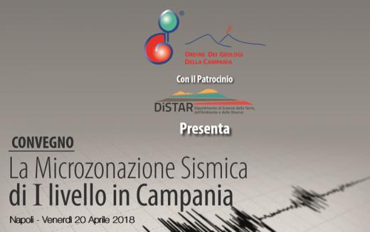 """TRASFERITA LA  SEDE Convegno """"La Microzonazione Sismica di I livello in Campania"""" – 20 Aprile 2018"""