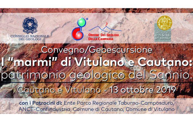 """Convegno Geoescursione: I """"marmi"""" di Vitulano e Cautano: patrimonio geologico del Sannio"""