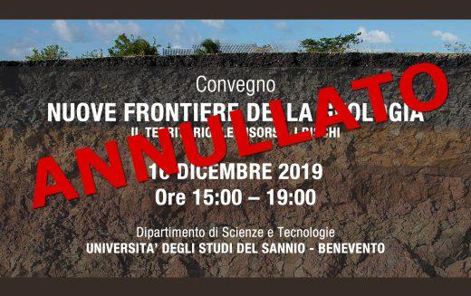 """ANNULLATO Convegno """"Nuove frontiere della Geologia"""""""