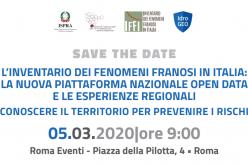 """5 MARZO 2020 – Convegno """"L'Inventario dei Fenomeni Franosi in Italia"""""""